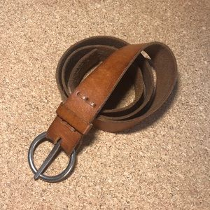 AE / American Eagle tan leather belt, size M